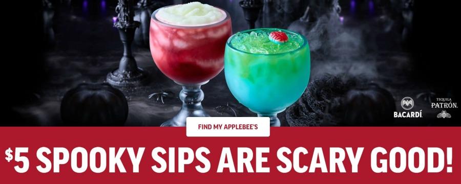 applebees halloween drink specials