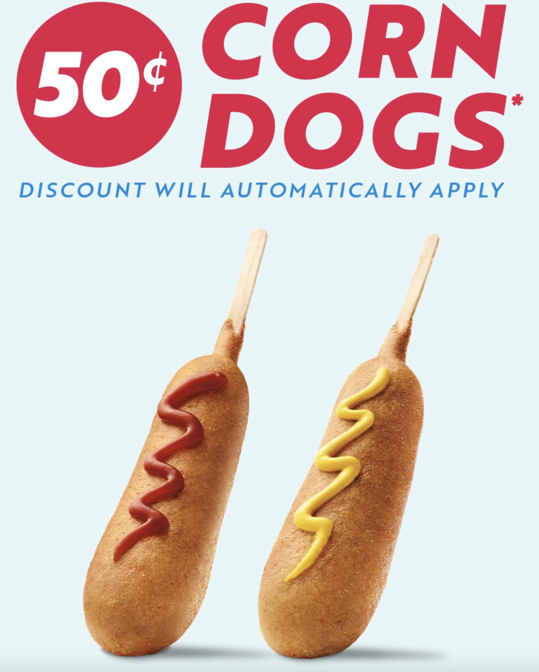 sonic corn dogs 50 2020