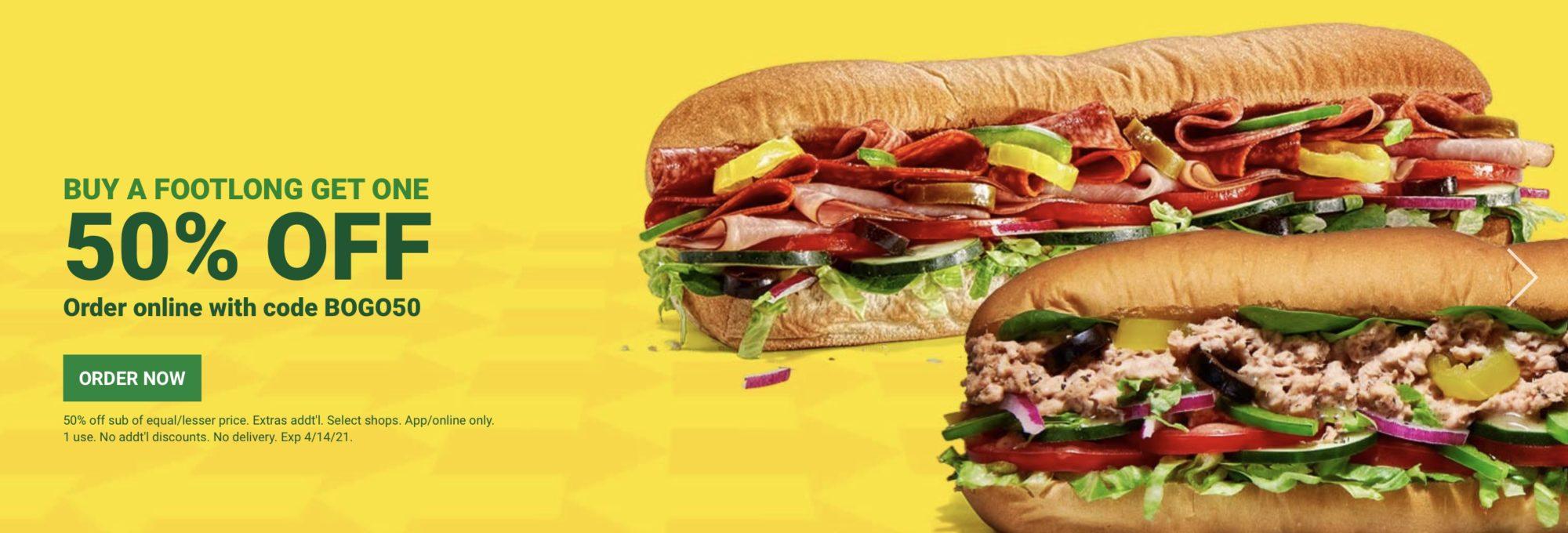 subway coupons footlong deal 2021