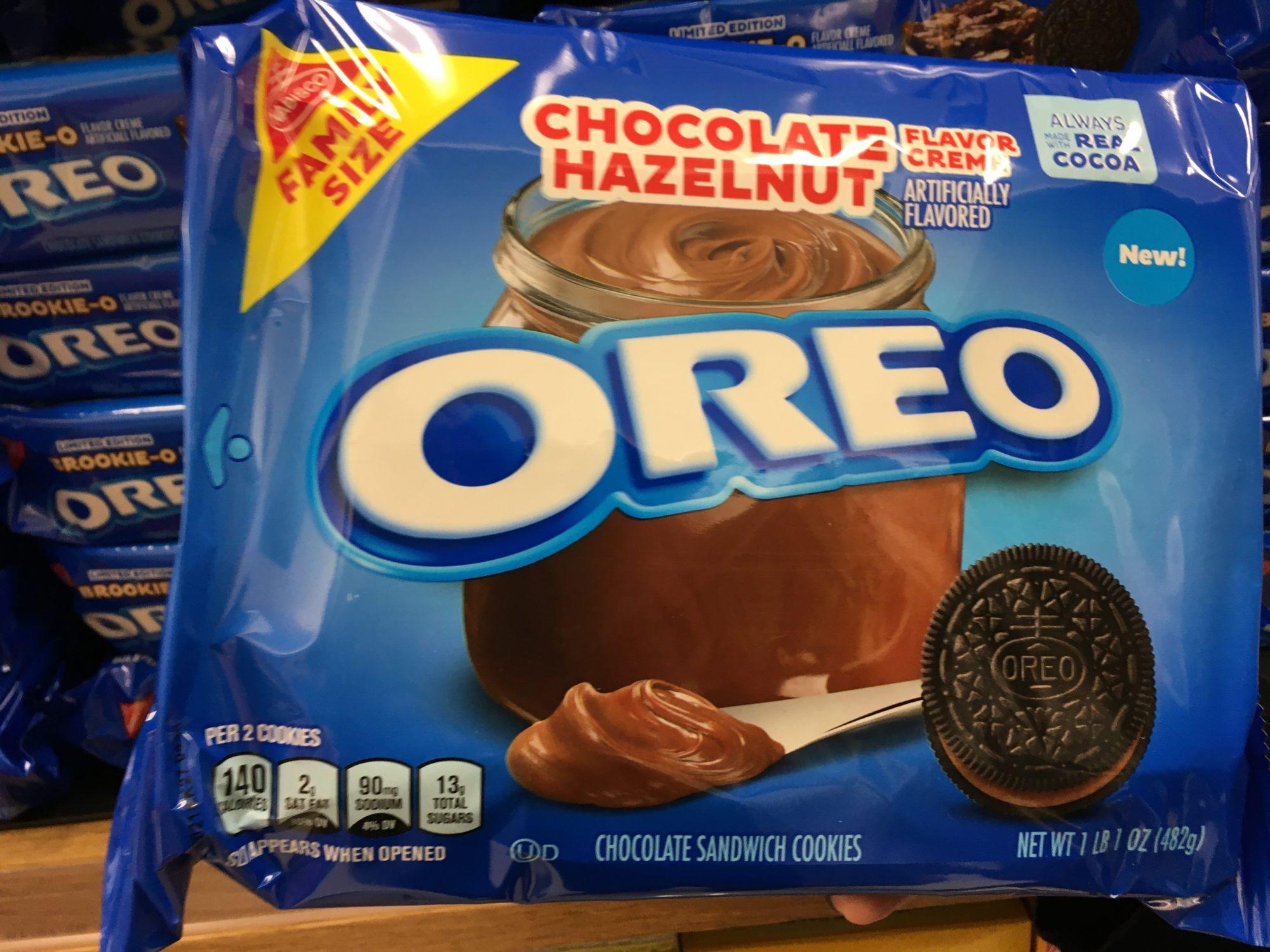 Oreo cookies Chocolate Hazelnut 2021