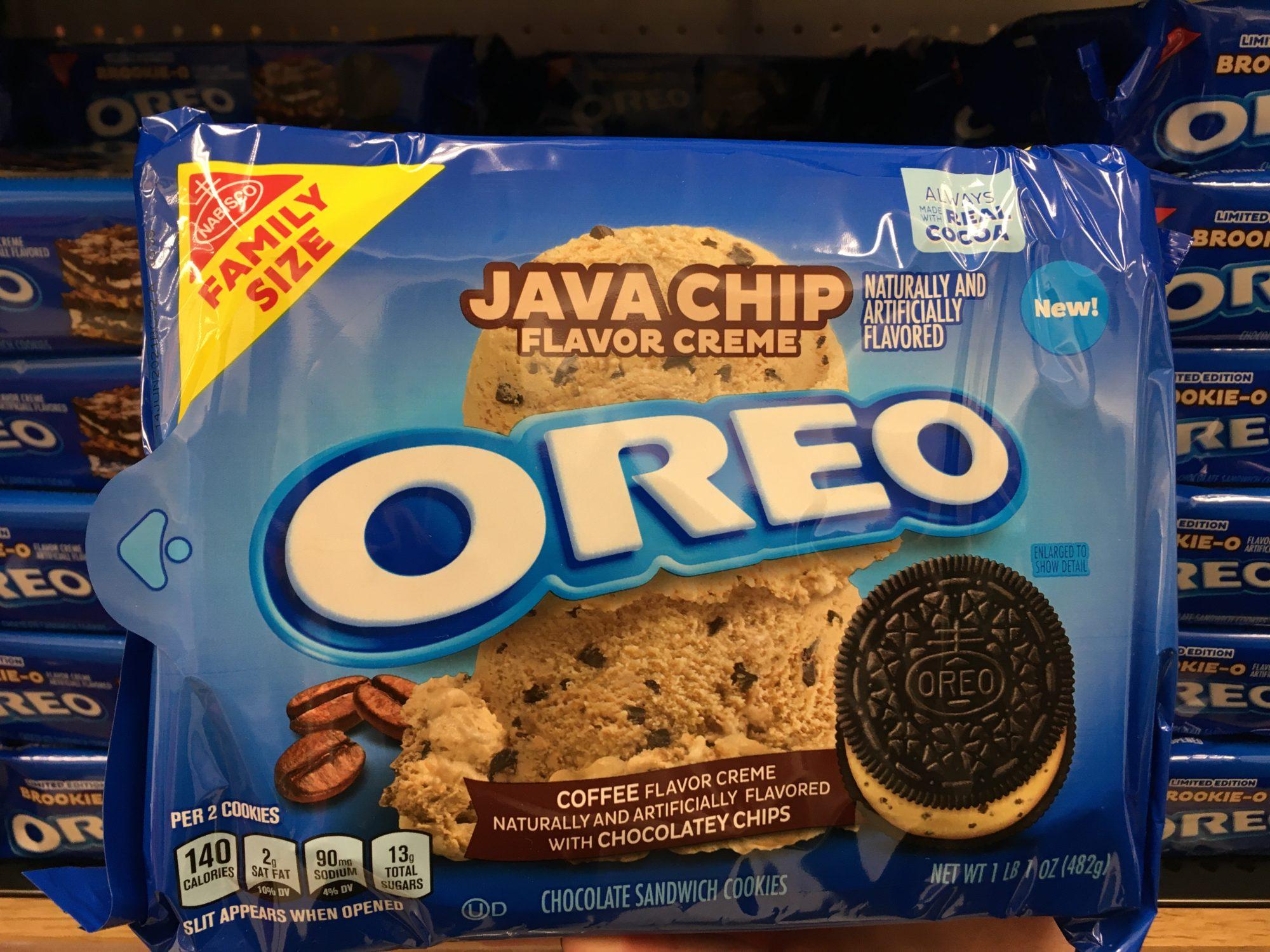 Oreo cookies java chip 2021