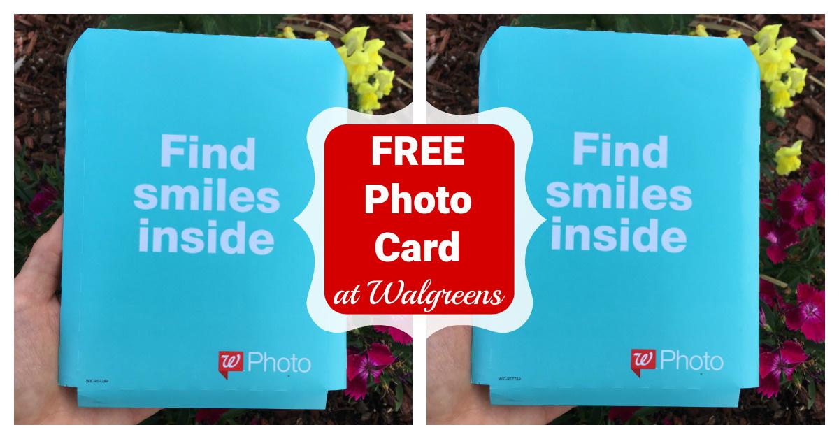 Walgreens Free photo card coupon code