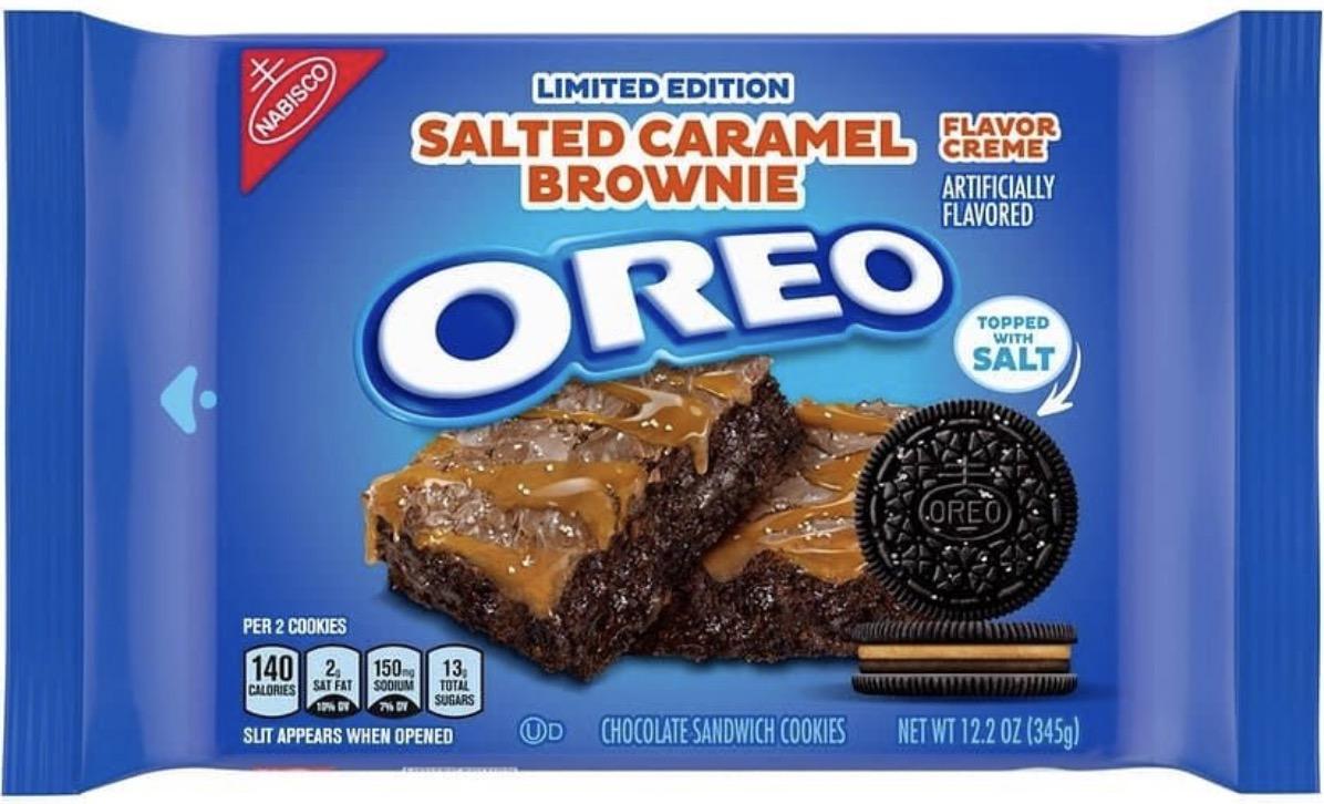 Oreo Cookies 2021 Salted Caramel Brownie
