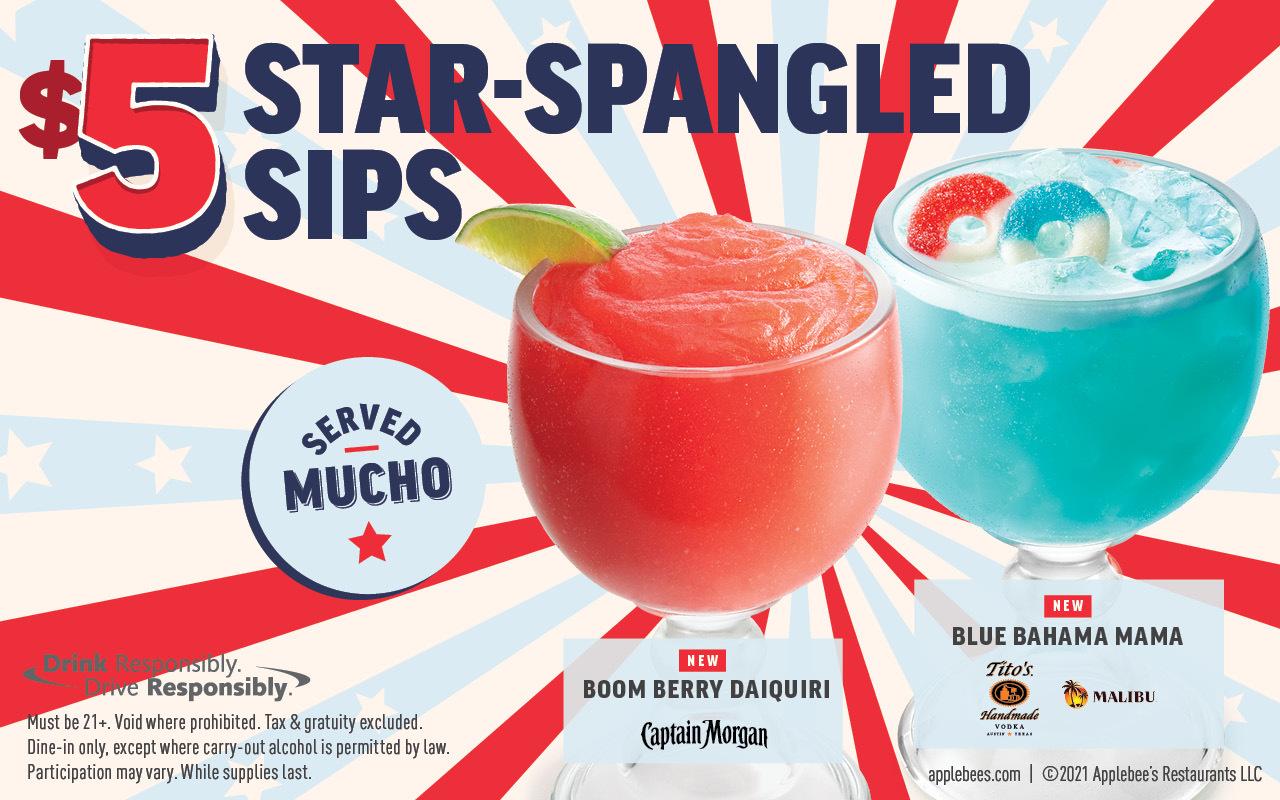 applebees drink specials July 2021 June